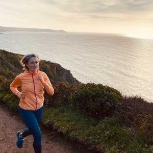 Becky running during a RUN FIT