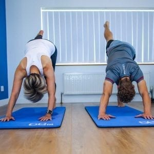Mike and Becky taking part in one of the studio Pilates classes