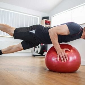 Mike doing a press-up during the Carbon Pro Coached Training Programme