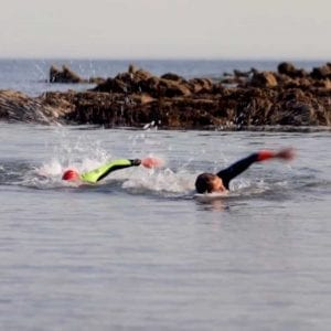 Mike swimming during the Carbon Coached Training Programme